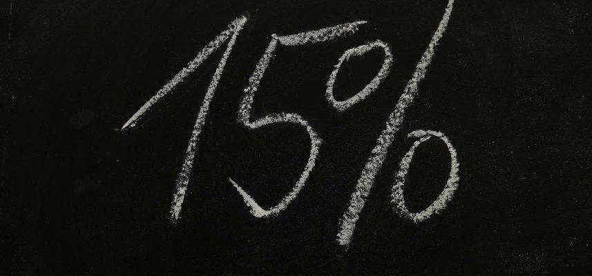 procenty na czarnym tle
